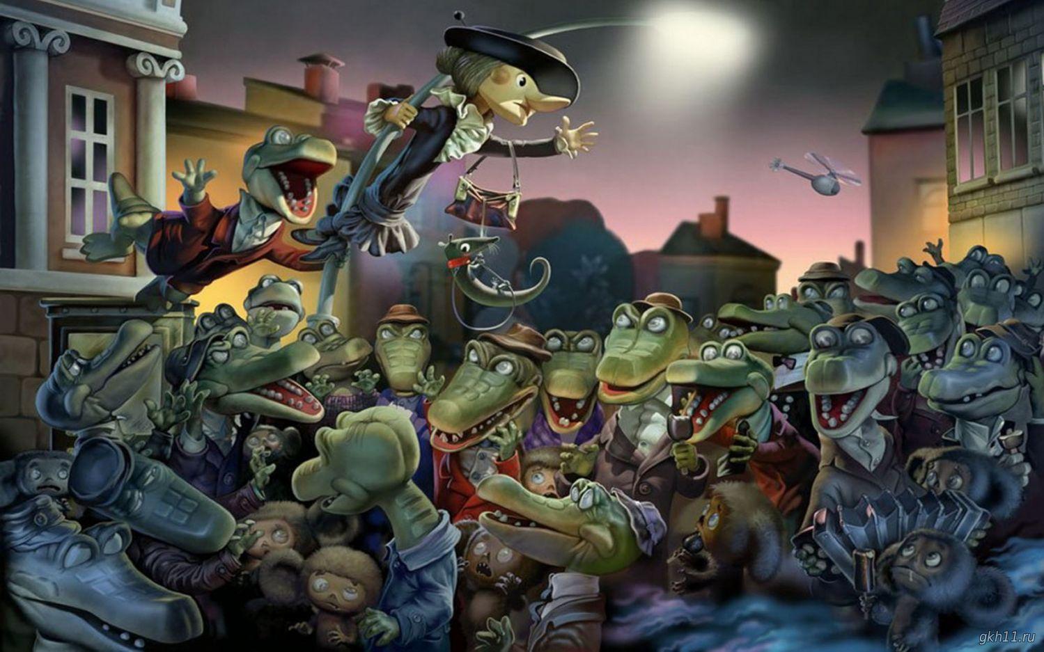 Картинки, смешная картинка крокодил гена